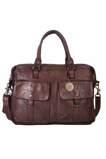 KOMPANERO -  Dark BrownLaptop Bag - Main