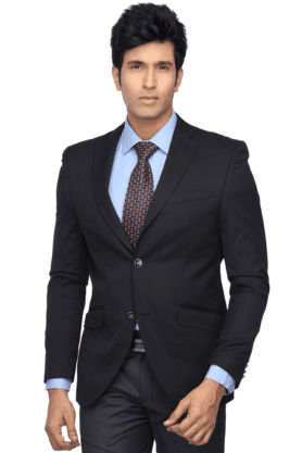 X BLACKBERRYS Mens Long Sleeves Slim Fit Solid Blazer d2f80009a6ee