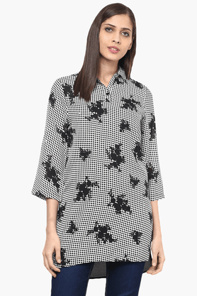 109F Womens Slim Fit Printed Tunic - 201553565