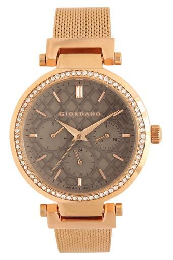 Womens Grey Dial Metallic Multi-Function Watch - GD-2030-44