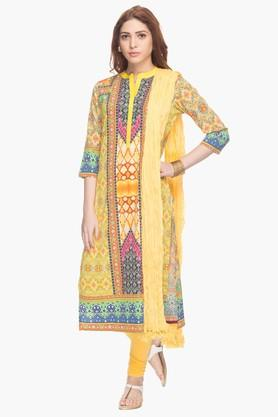 HAUTE CURRY Womens Printed Churidar Suit - 201788052
