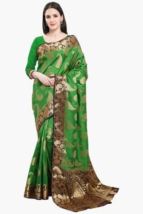 Women Poly Silk All Over Mango Buti With Richpallu Saree