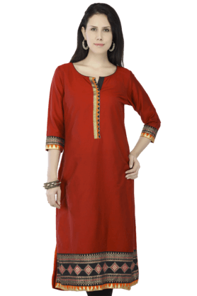 KASHISH Women Cotton Printed Kurta - 200350902