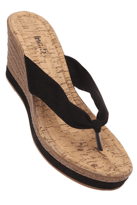 INC.5 Womens Black Brown Slipon Platform Sandal