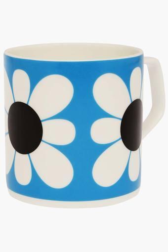 Round Floral Printed Mug