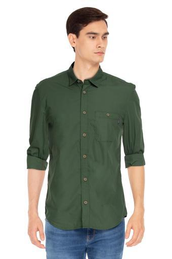 LOUIS PHILIPPE JEANS -  Herb GreenShirts - Main