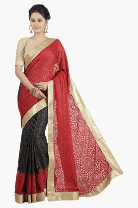 JASHNWomens Colour Block Saree - 201502230