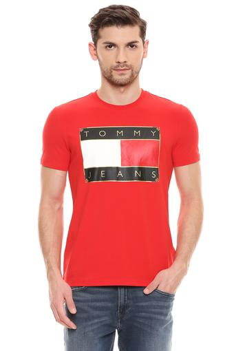 TOMMY HILFIGER -  Red T-shirts - Main