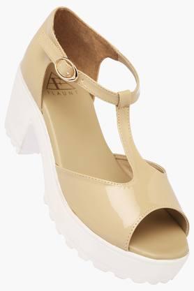 FEMINA FLAUNTWomens Daily Wear Ankle Buckle Closure Heel Sandal