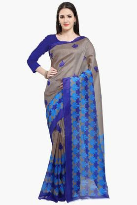 Women Bhagalpuri Art Silk Floral Printed Saree
