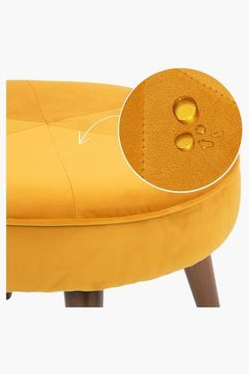 Dark Yellow Water Repellent Fabric Pouf