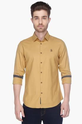 Being Human Formal Shirts (Men's) - Mens Full Sleeves Casual Solid Shirt