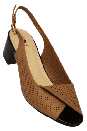 LAVIEWomens Daily Wear Ankle Buckle Closure Heel Sandal