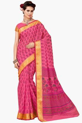 ASHIKA Womens Designer Cotton Printed Saree - 202338211