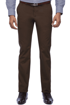 INDIAN TERRAIN Mens Flat Front Slim Fit Solid Chinos - 9983055