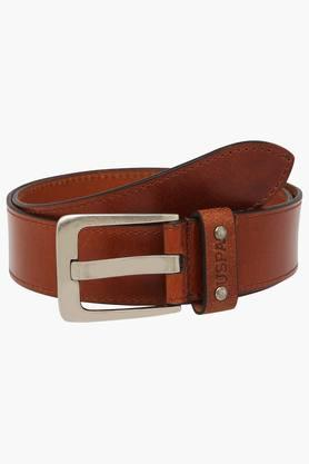 U.S. POLO ASSN. Mens Leather Buckle Closure Casual Belt  ... - 202132317