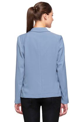 Womens Notched Lapel Solid Blazers