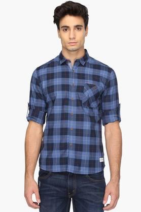 Flying Machine Formal Shirts (Men's) - Mens Slim Fit Check Shirt