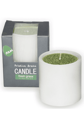 DECO ARO Fresh Grass Pillar Candle
