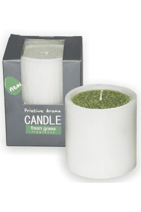 DECO AROFresh Grass Pillar Candle