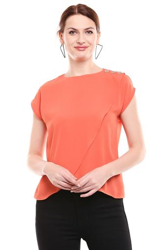 MADAME -  Orange Tops & Tees - Main