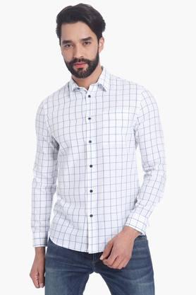 Jack And Jones Formal Shirts (Men's) - Mens Full Sleeves Casual Check Shirt