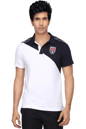 REEBOK Mens Short Sleeves Slim Fit Polo Neck T-Shirt