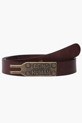 BEING HUMAN Mens Leather Casual Web Belt (Buy 3 Get Lowest At 50% Off)