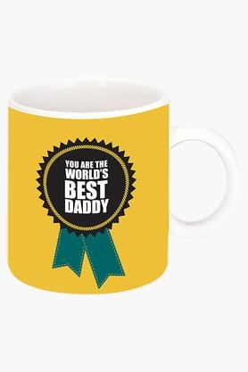 CRUDE AREA Worlds Best Daddy Printed Ceramic Coffee Mug