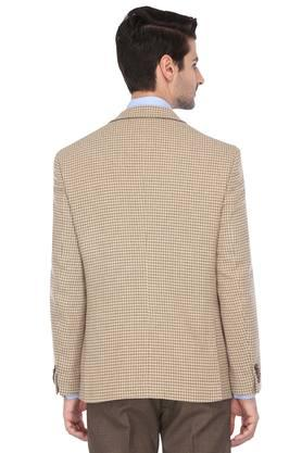 Mens Notched Lapel Houndstooth Printed Blazer