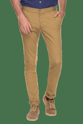 BLACKBERRYSMens Slim Fit Solid Chinos - 200889328