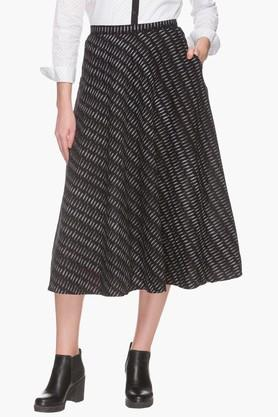 STOP Womens Printed Midi Skirt