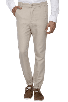 UNITED COLORS OF BENETTON Mens Slim Fit Solid Trouser