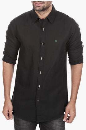 Wrangler Formal Shirts (Men's) - Mens Slim Fit Solid Shirt