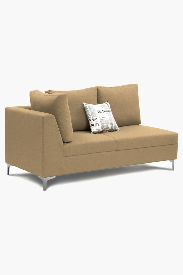 Dark Ivory Water Repellent Fabric Sofa (Lounger)