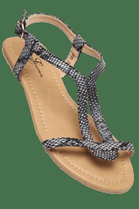 ELLIZA DONATEINWomens Ankle Closure Flat Sandal
