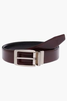 VAN HEUSEN Mens Leather Buckle Closure Formal Belt - 203062256