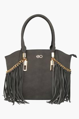 E2O Womens Casual Zipper Closure Tote Handbag