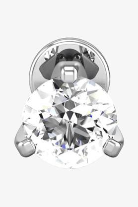 VELVETCASEWomens 18 Karat White Gold Nose Ring (Free Diamond Pendant) - 201064983