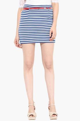 MISS CHASEWomens Striped Short Skirt
