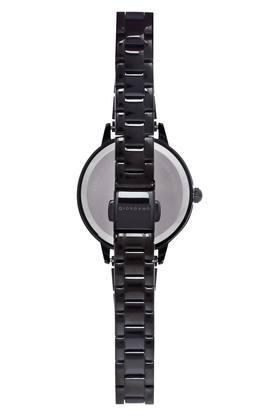 Womens Black Dial Metallic Analogue Watch - GD-2034-11