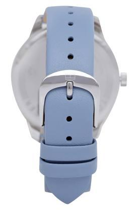 Mens White Dial Leather Analogue Watch - TH1782023