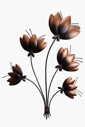 MALHAR Wrought Iron Lotus Wall Decor
