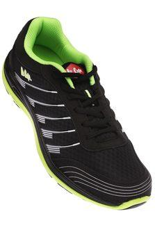 LEE COOPERMens Black Lace Up Sports Shoe