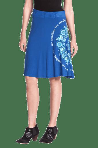Women Viscose Knee Length Skirt
