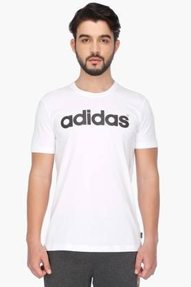 ADIDAS Mens Short Sleeves Round Neck Solid T-Shirt - 201564486