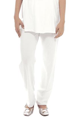 NINE MATERNITYSuper Comfy Foldover Jersey Pants In White