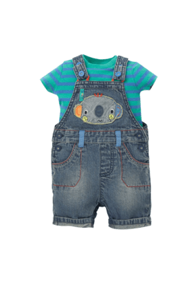 MOTHERCARE Boys Denim Applique Dungaree
