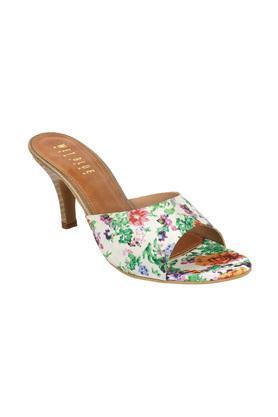 Womens Casual Wear Floral Slip On Heels