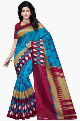 Women Bhagalpuri Art Silk Printed Saree